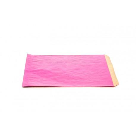 Sobres de papel kraft rosa 14x20cm 50 unidades