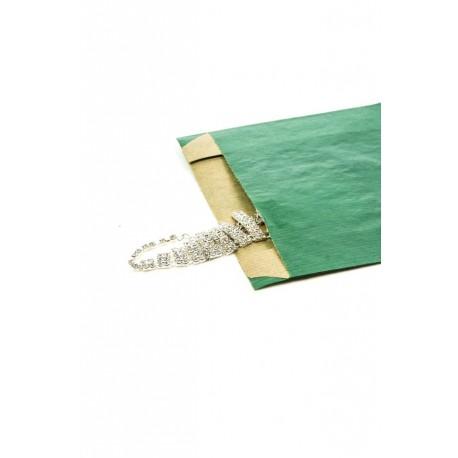 Sobres de papel kraft verde oscuro 14x20x5cm 50 unidades
