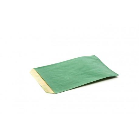 Sobres de papel kraft verde oscuro 9x13cm 100 unidades