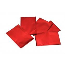 Sobres de plástico rojo metalizado 15x10 cm 100 unidades