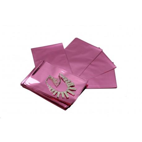 Sobres de plástico rosa metalizado 15x10 cm 100 unidades