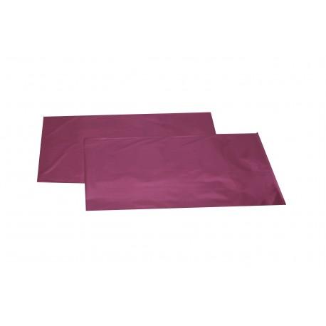 Sobres de plástico rosa metalizado 25x15 cm 100 unidades