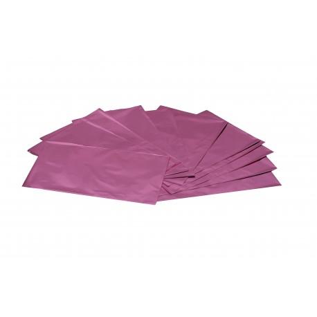 Sobres de plástico rosa metalizado 40x13 cm 50 unidades