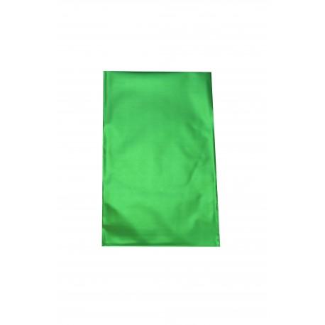Sobres de plástico verde metalizado 25x15 cm 100 unidades