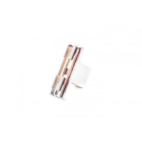Soporte de tubo rectangular para cremallera