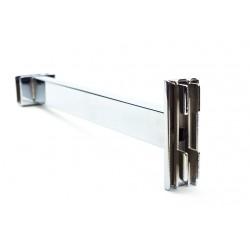 Soporte de tubo rectangular para sistema de cremallera 30 cm