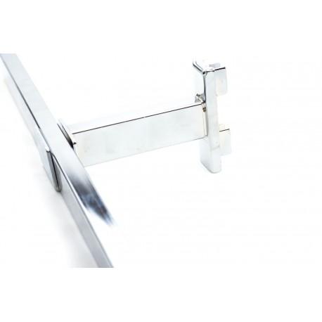 Soporte de tubo rectangular para sistema de cremallera 10 cm
