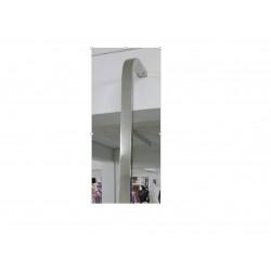 Tubo cremallera con terminacion de acero inoxidable 2.4 metros