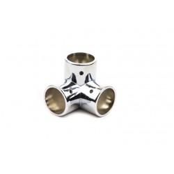 Unión de metal para tubo 25mm 3 salidas