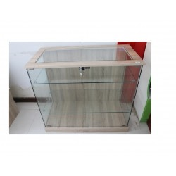 Vitrina expositora color oak 120x50x90cm