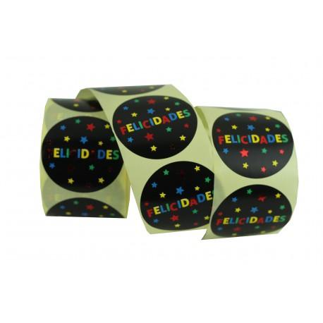 Etiquetas adhesivas para regalos con mensaje varios colores