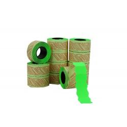Etiqueta de precios verde 2 líneas 26x16mm 8 rollos