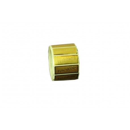 Etiquetas adhesivas para regalos mensaje felicidades oro