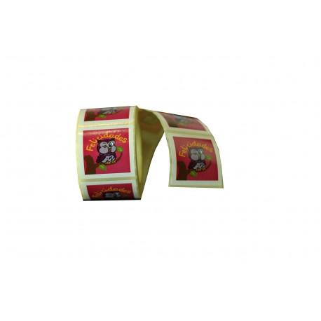 Etiquetas adhesivas para regalos mensaje felicidades estampado buho