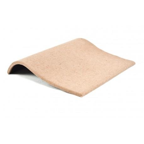Expositor de pulseras curvado en lino marron 20x18 cm