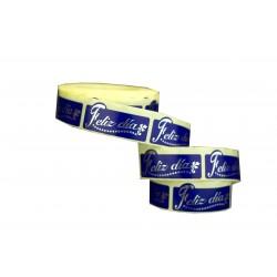 Etiquetas adhesivas para regalos feliz día fondo azul