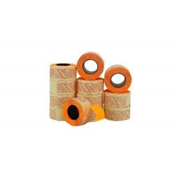 Etiqueta de precios naranja 2 líneas 26x16mm
