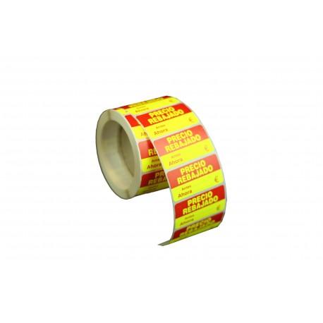Etiquetas de precios rebajado para tiendas 48x24mm