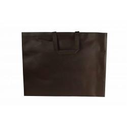 Bolsa de tela asa plana marrón 49x50cm