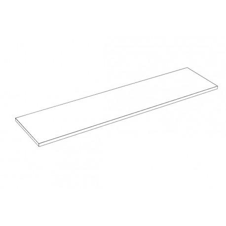 Balda de madera 120x30cm grosor 19mm, color blanco