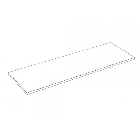 Balda de madera 120x40cm grosor 19mm, color blanco