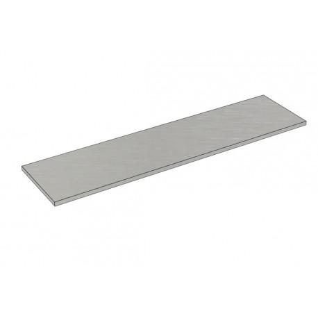 Balda de madera 120x30cm grosor 19mm color gris