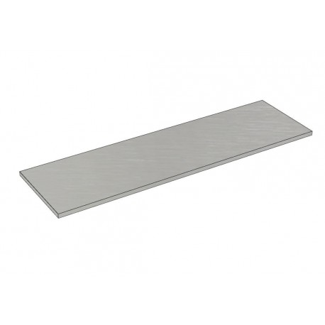 Balda de madera 120x35cm grosor 19mm, color gris
