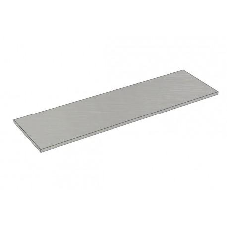 Balda de madera 120x35cm grosor 19mm, color gris