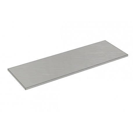 Balda de madera 120x40cm grosor 19mm, color gris