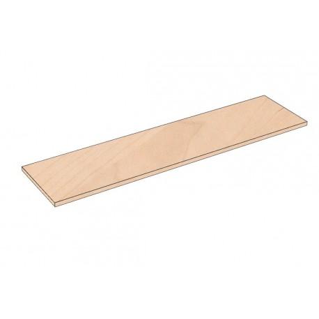 Balda de madera 120x30cm grosor 19mm, color abedul