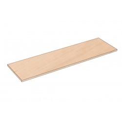 Balda de madera 120x35cm grosor 19mm, color abedul