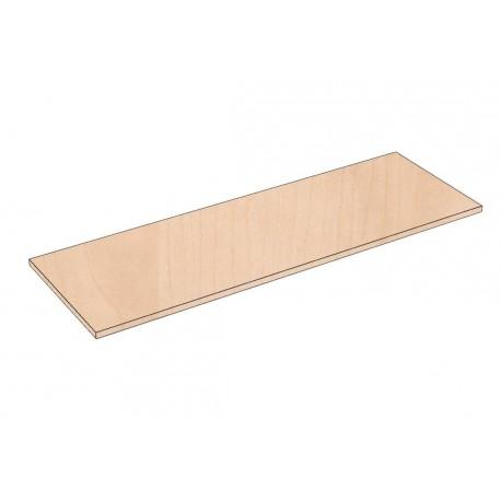 Balda de madera 90x35cm grosor 19mm, color abedul