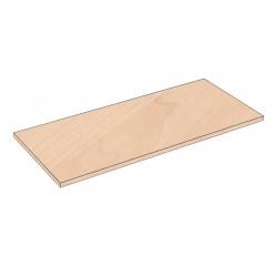 Balda de madera 90x40cm grosor 19mm, color abedul