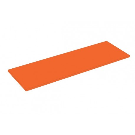 Balda de madera 120x40cm grosor 19mm, color naranja