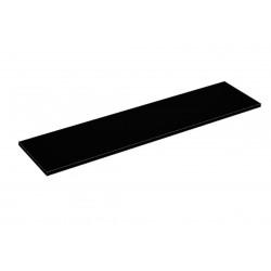Balda de madera 120x30cm grosor 19mm, color negro
