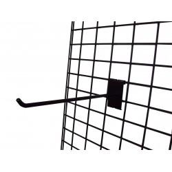 Malla expositora negra de doble margen 60x180 cm