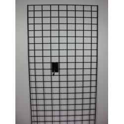 Malla metálica doble margen negro 60x180cm