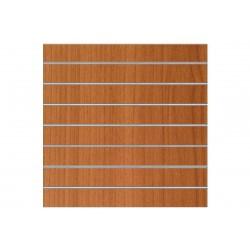 Panel de lamas color cerezo 7 guías 120x120 cm