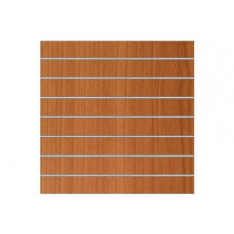 Panel de lamas 120X120CM color cerezo 7.5 guías