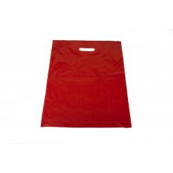 Bolsas de plástico asa troquelada roja 40x50cm