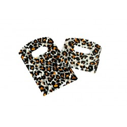 Bolsas de plástico con asa troquelada estampado leopardo 9x15cm