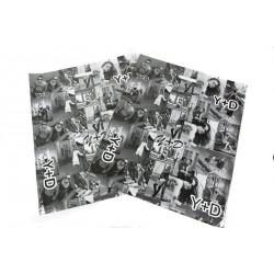 Bolsas de plástico asa troquelada fotos blanco/negro 50x60cm