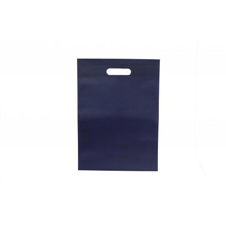 Bolsa de tela asa troquelada azul marino 25x35cm
