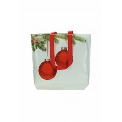 Bolsa de tela plastificada estampado navideño 40x39cm