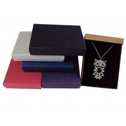 Cajas para joyas cartón marrón 16.5x12.5x3cm