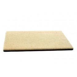Base expositor de joyería en lino grueso y polipiel 40x30 cm