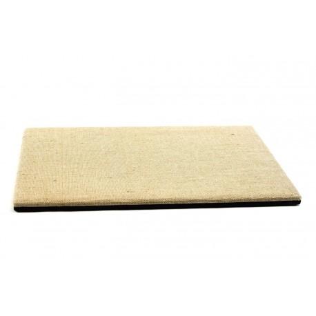 Base para expositor de joyería reversible lino grueso o polipiel 40x30x1.5cm