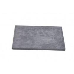 Base expositora para joyería en terciopelo gris oscuro 28x18  cm