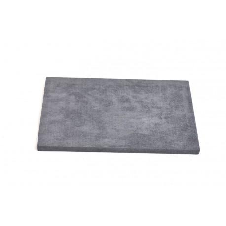 Base expositora para joyería terciopelo gris oscuro 28x18x1.5 cm