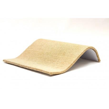 Expositor para pulseras curvado en lino grueso 20x17 cm